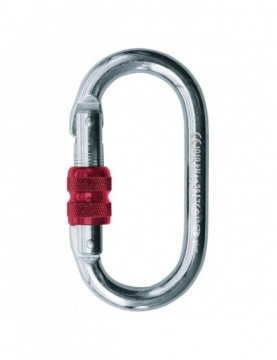 Carabiner Oval Steel Screw