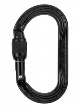 Carabiner Oxan Screw Lock Black